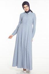 Tuğba Elbise İndigo Tk M7342 07