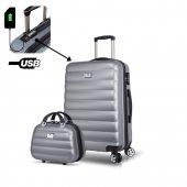 My Valice Smart Bag Colors Usb Şarj Girişli 2li Va...