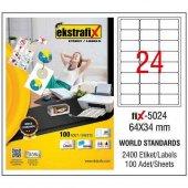 Ekstrafix Etiket 100Lü 64X34
