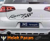 Racing Bayrak Oto Sticker-4