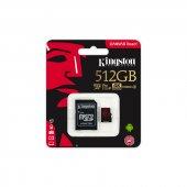 KINGSTON SDCR/512GB 512GB 100/80 MB/s CANVAS REACT SDXC microSD