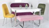 6 Kişilik Mutfak Masası Taytüyü Masa Sandalye Takı...