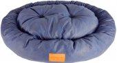 Wowpaw Luxury Mavi Oval Orta Boy Kedi Köpek Yatağı