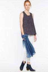 Piecenza Poplin Mini Desenli Lacivert Gömlek 160056 1