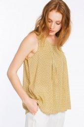 Piecenza - Poplin Mini Desenli Sarı Gömlek   160056-2-3