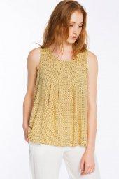 Piecenza - Poplin Mini Desenli Sarı Gömlek   160056-2-4