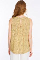 Piecenza - Poplin Mini Desenli Sarı Gömlek   160056-2-5