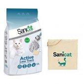 Sanicat Activeless Track Kalın Taneli Kedi Kumu 10 Lt + Çanta