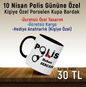 10 Nisan Polis Günü Kişiye Özel Tasarımlı Kupa Bardak *anahtarlık Hediyeli