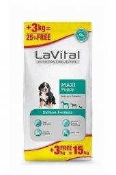 LaVital Somonlu Büyük Irk Yavru Köpek Maması 12+3 Kg