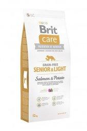 Brit Care Tahılsız Somonlu Light Yaşlı Köpek Maması 12 Kg