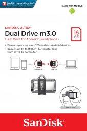 Sandisk Dual Drive 16gb M3.0 Otg Usb Bellek...