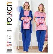 Polkan Lohusa 3 İü Pijama Takımı 13074