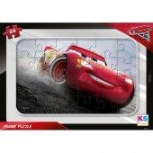 Ks Games Cars 24 Parça Frame Puzzle Şimşek Mcqueen