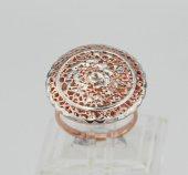 Özel tasarım gümüş bayan yüzüğü-3