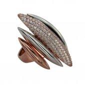 Özel tasarım gümüş bayan yüzüğü-2
