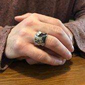 Siyah Taşlı Özel Tasarım Gümüş Erkek Yüzüğü