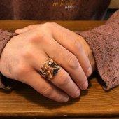 Siyah Taşlı Yeni Tasarım Gümüş Erkek Yüzüğü