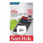 Sandisk Ultra 32gb 80mb S Microsdhc Microsdxc Uhs I Hafıza Kartı Sdsquns 032g Gn3mn