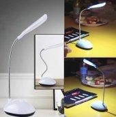 Masa Lambası Led Mini Masa Lambası Beyaz Renk 4 Ledli Pilli