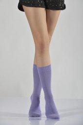 ıdilfashion Kadın Modal Soket Çorabı Eflatun B Art044