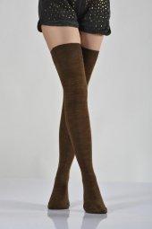 ıdilfashion Kadın Dizüstü Çorabı Kahverengi B Art005