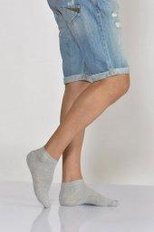 Erkek Active Düz Renk Patik Çorabı Açık Gri E Art234