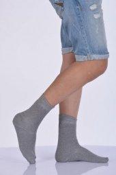 Pamuk Havlu Erkek Soket Çorabı Açık Gri E Art216