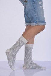 ıdilfashion Erkek Desenli Bambu Soket Çorabı Açık Gri E Art2