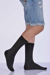 Desenli Bambu Erkek Soket Çorabı Koyu Gri E Art217