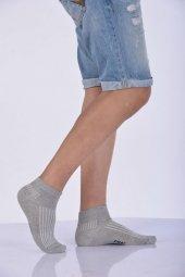 Dikişsiz Yazlık Erkek Patik Çorabı Gri E Art234