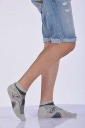 Dikişli Yazlık Erkek Patik Çorabı Açık Gri E Art235