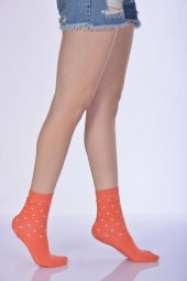 Havlu Kışlık Kadın Soket Çorabı - Mercan B-ART051-2