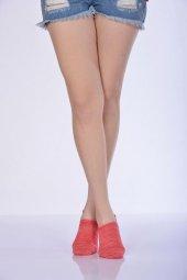 Degrade Kadın Babet Çorabı Mercan B Art048