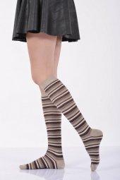 Çemberli Diz Altı Bayan Çorabı  - Bej B-ART013-2