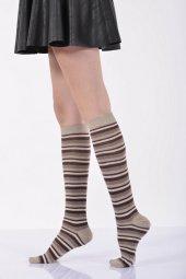 Çemberli Diz Altı Bayan Çorabı  - Bej B-ART013-3