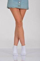 Kadın Tam Havlu Patik Çorabı Beyaz B Art006