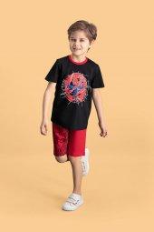 Spider Man Lisanslı Siyah Erkek Çocuk Bermuda Takım D4145 C V2