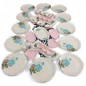 Keramika Turkuazgül 37 Parça 6 Kişilik Kahvaltı Takımı Açık Pembe