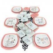 Keramika Peri Masalı Pembe 30 Parça 6 Kişilik Kahvaltı Takımı