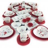 Keramika Peri Masalı 46 Parça 6 Kişilik Kahvaltı Takımı