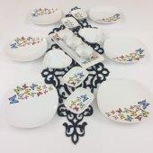 Keramika Kelebek 16 Parça 6 Kişilik Kahvaltı...