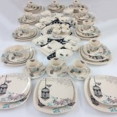 Keramika Retro 67 Parça 12 Kişilik Kahvaltı Takımı
