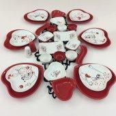 Keramika Kalp Peri Masalı 32 Parça 6 Kişilik Kahvaltı Takımı