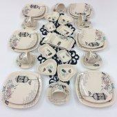 Keramika Retro 6 Kişilik 34 Parça Kahvaltı Takımı