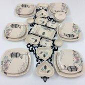 Keramika Retro 6 Kişilik 26 Parça Kahvaltı Takımı