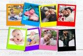 10 Adet Renkli Polo Kart - Polaroid Kişiye Özel Fotoğraf Baskısı