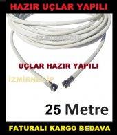 25 Metre Ucları Hazır Yapılı Anten Kablosu Uydu...