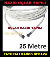 Anten Kablosu 25 METRE HAZIR UÇLARI YAPILI TAK ÇALIŞTIR