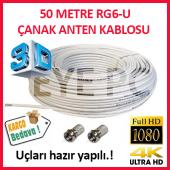 50 Metre Uydu Kablosu Fullhd 3d 4k Çanak...